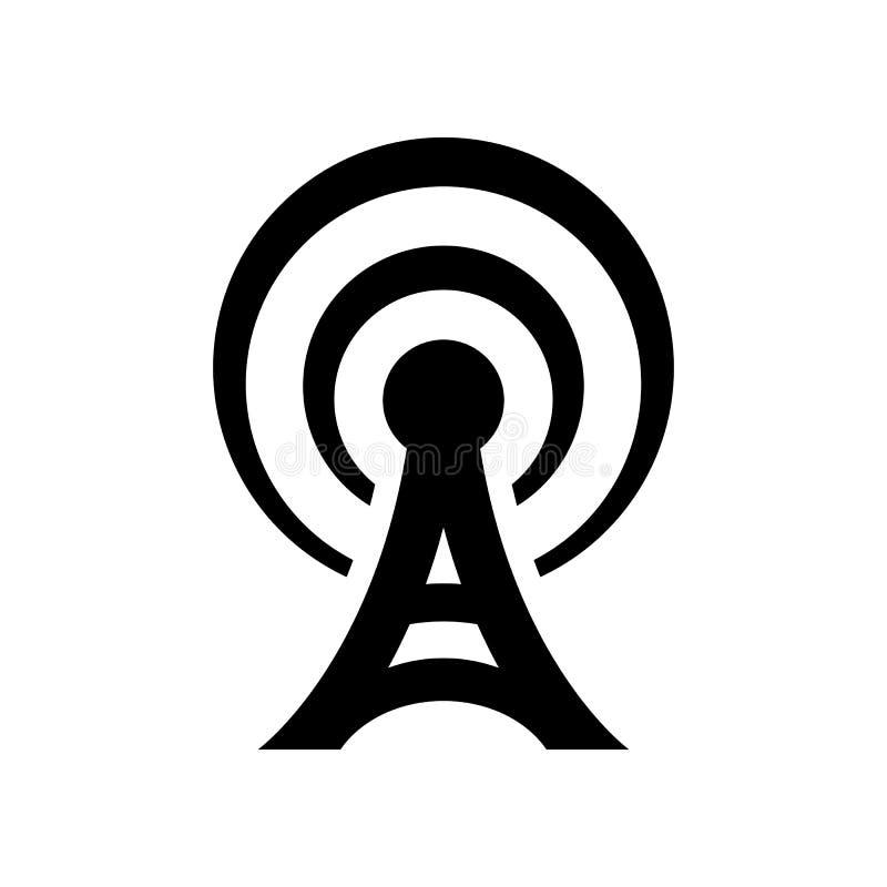 Icono de la antena stock de ilustración