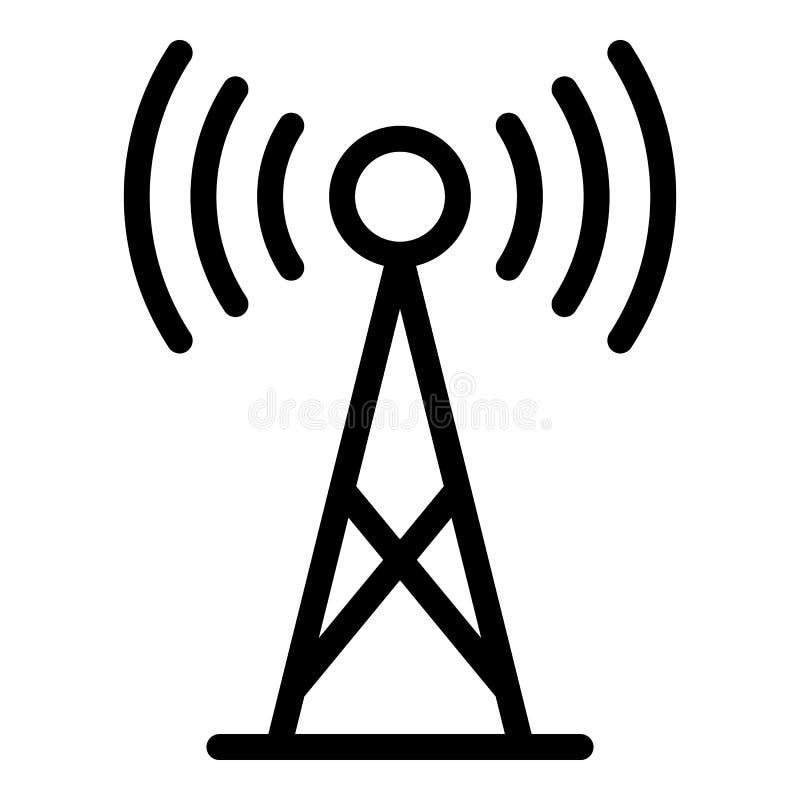 icono de la antena 5G, estilo del esquema stock de ilustración