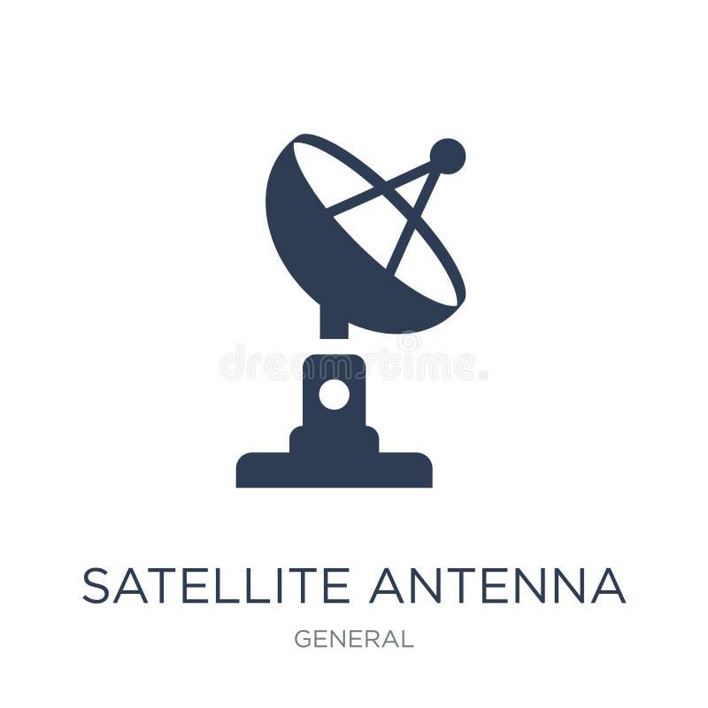 Icono de la antena de satélite  stock de ilustración