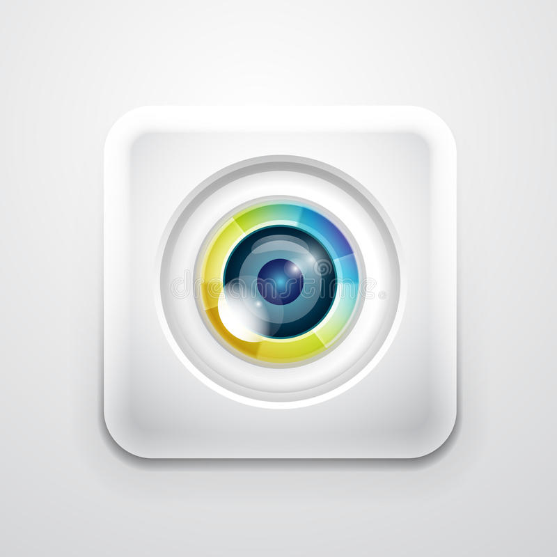 Icono de la aplicación de la cámara ilustración del vector