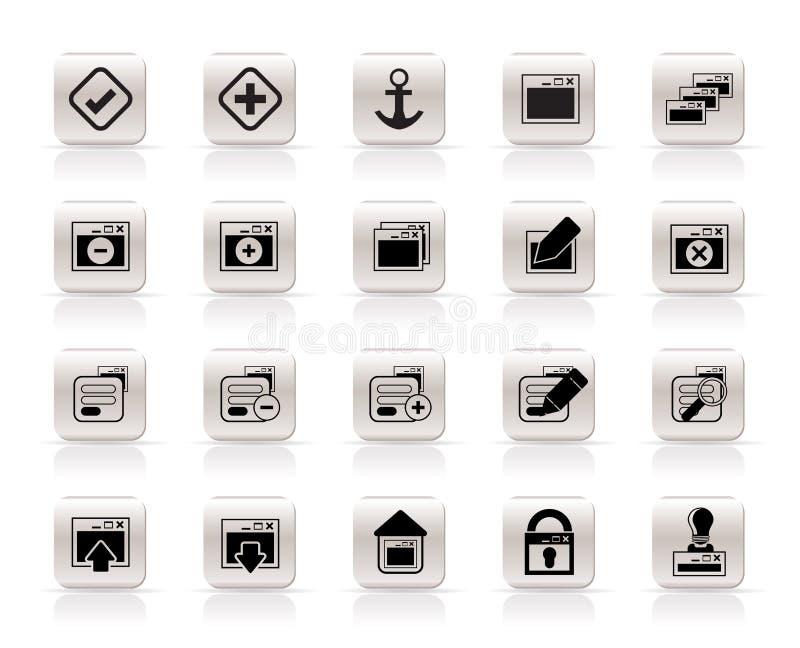 Icono de la aplicación, de la programación, del servidor y del ordenador stock de ilustración