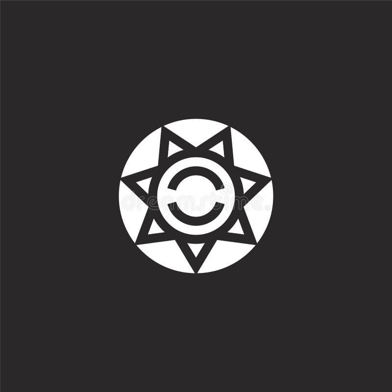 icono de la aplicación de ley Icono llenado de la aplicación de ley para el diseño y el móvil, desarrollo de la página web del ap stock de ilustración
