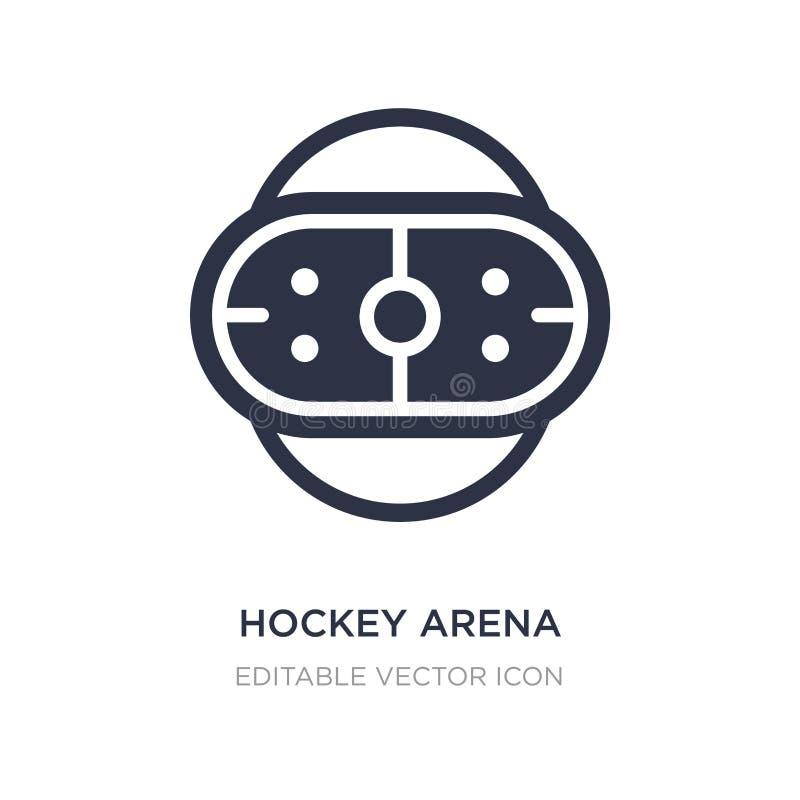 icono de la arena del hockey en el fondo blanco Ejemplo simple del elemento del concepto de los deportes libre illustration
