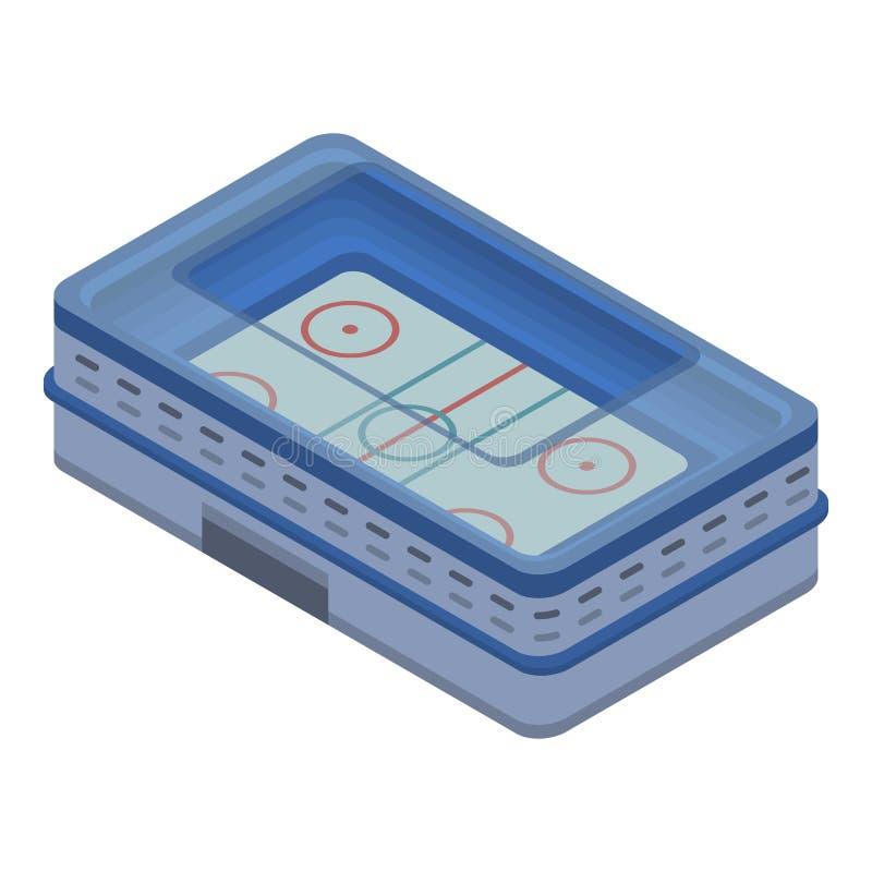 Icono de la arena del hockey sobre hielo, estilo isométrico ilustración del vector