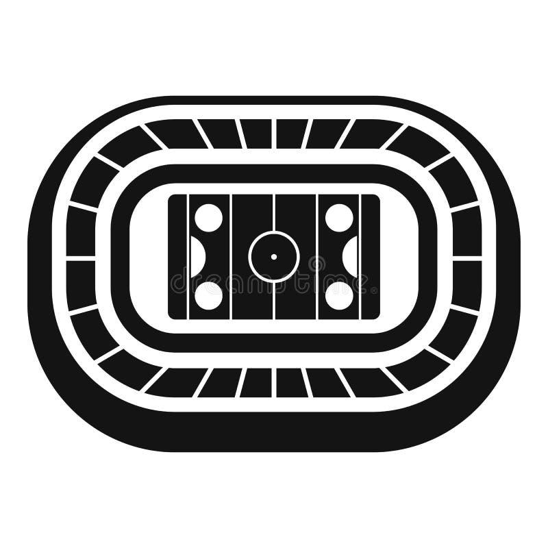 Icono de la arena del hockey sobre hielo, estilo simple stock de ilustración