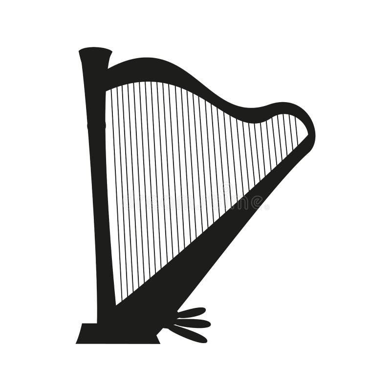Icono de la arpa en el fondo blanco libre illustration