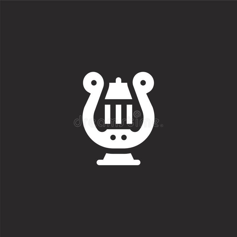 Icono de la arpa Icono llenado de la arpa para el diseño y el móvil, desarrollo de la página web del app icono de la arpa de la c libre illustration