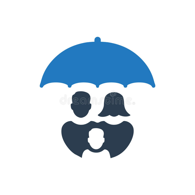 Icono de la atención sanitaria de la familia libre illustration