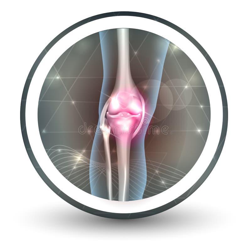 Icono de la atención sanitaria de la junta de rodilla libre illustration