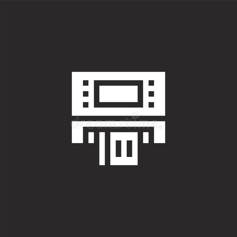 Icono de la atm?sfera Icono llenado de la atmósfera para el diseño y el móvil, desarrollo de la página web del app icono de la at ilustración del vector
