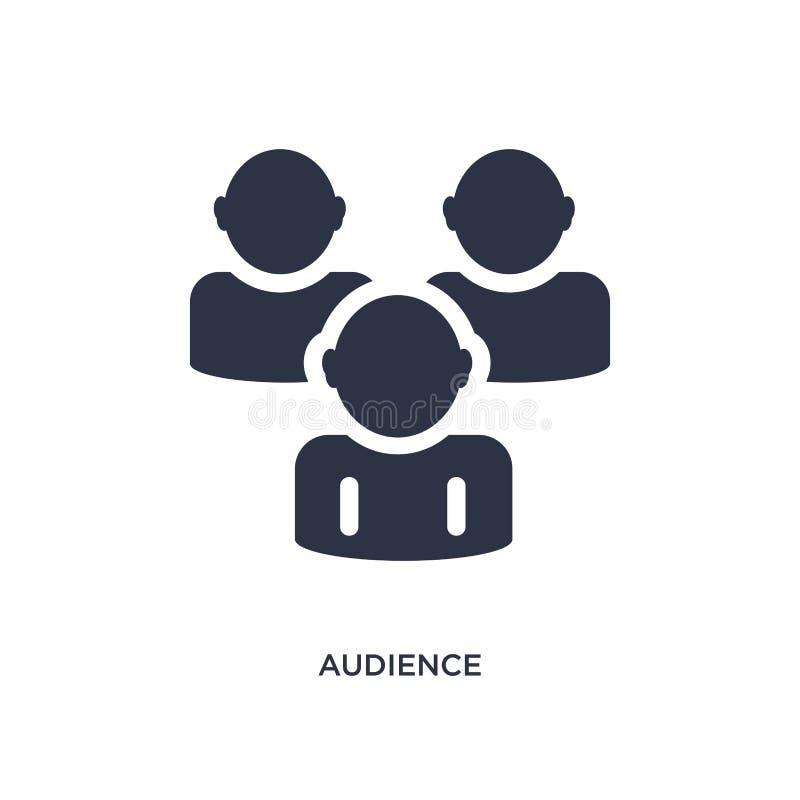 icono de la audiencia en el fondo blanco Ejemplo simple del elemento del concepto del hockey ilustración del vector