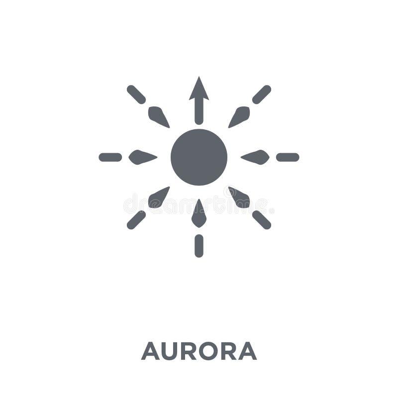 Icono de la aurora de la colección ilustración del vector