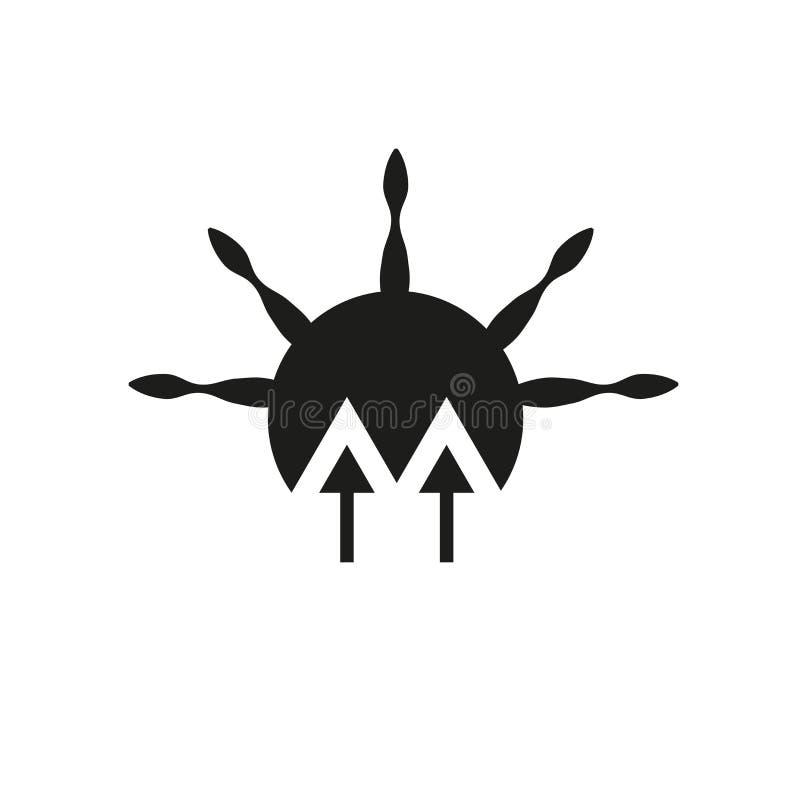 Icono de la aurora Concepto de moda del logotipo de la aurora en el fondo blanco de ilustración del vector