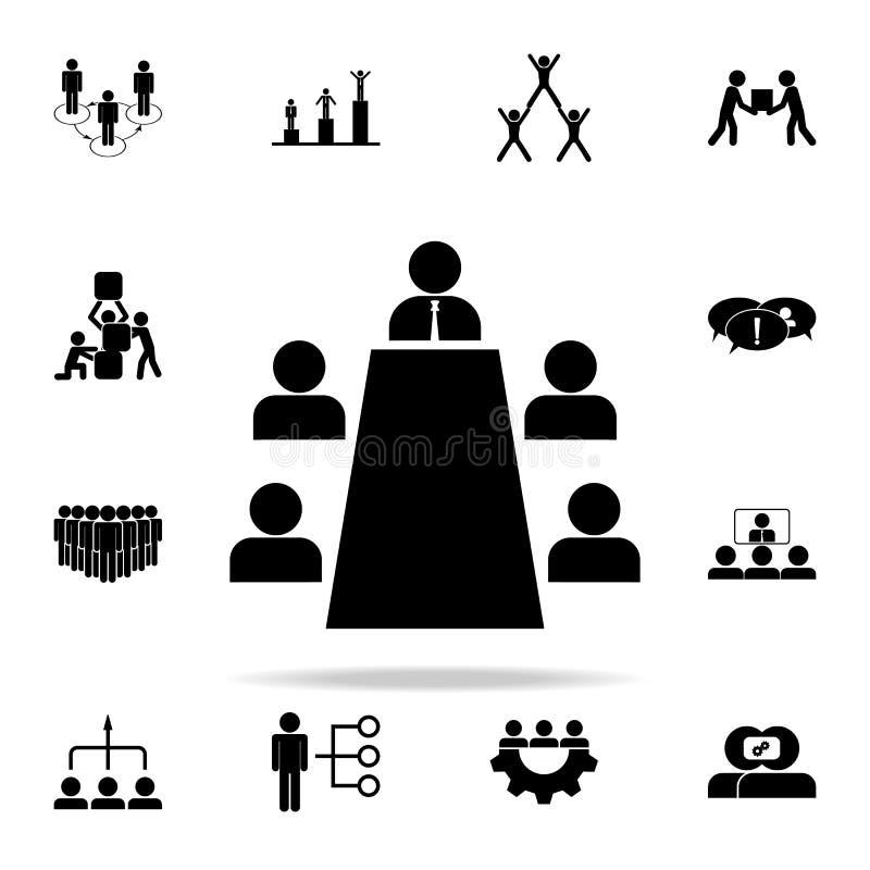 icono de la auscultación Sistema universal de los iconos del trabajo en equipo para el web y el móvil libre illustration