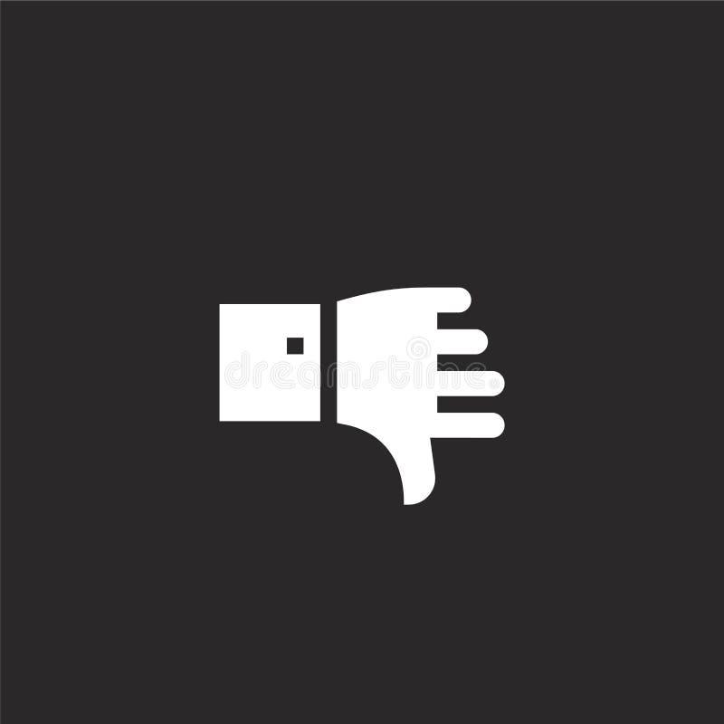 Icono de la aversi?n Icono llenado de la aversión para el diseño y el móvil, desarrollo de la página web del app tenga aversión e ilustración del vector