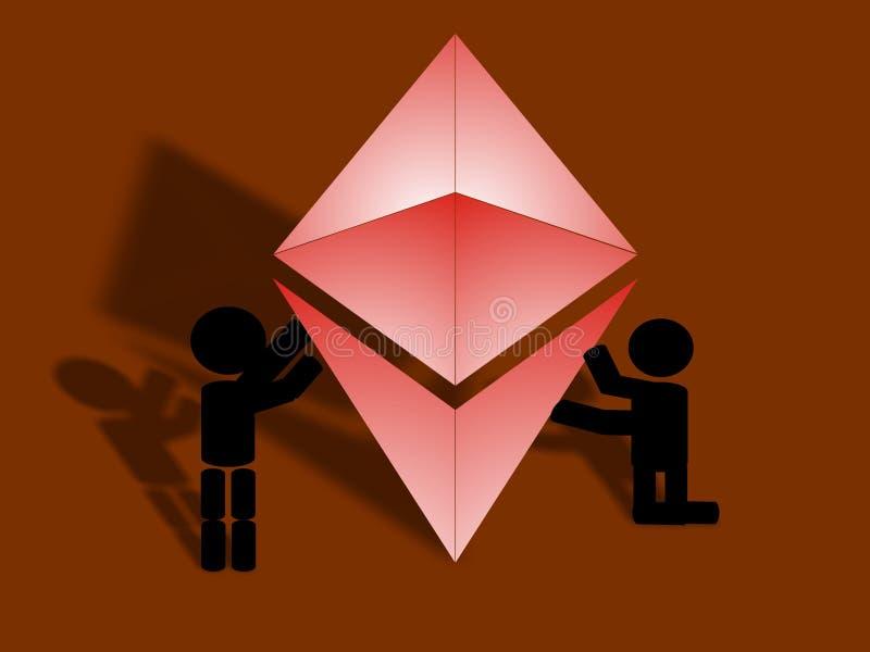 Icono de la ayuda de Ethereum libre illustration