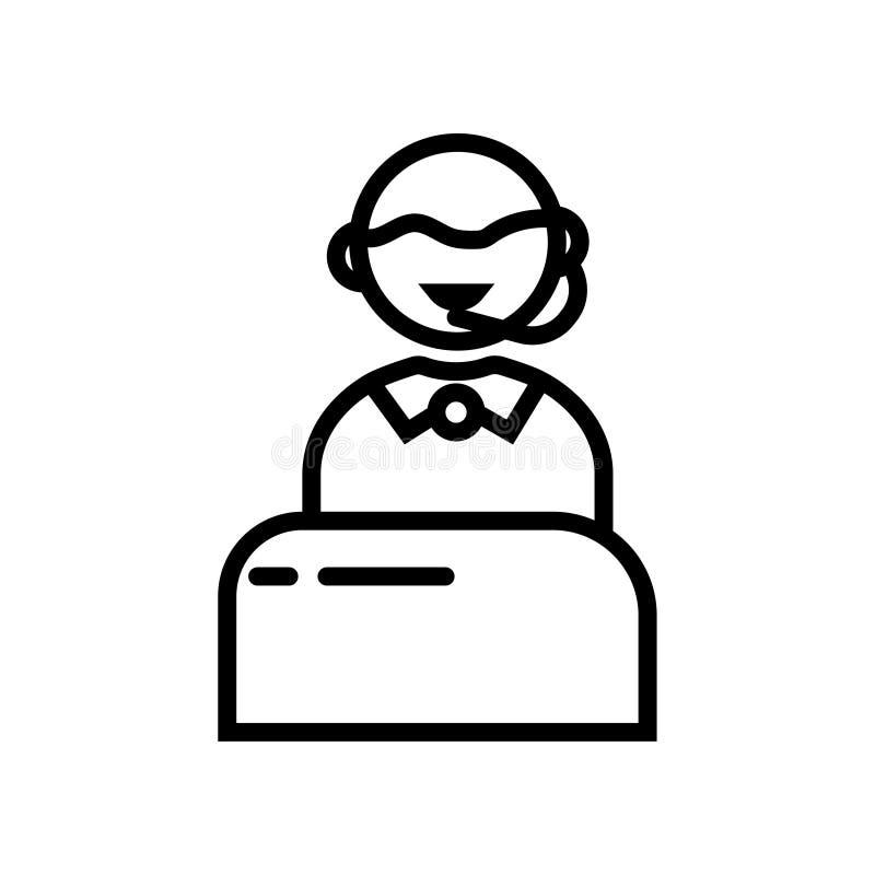 Icono de la ayuda stock de ilustración