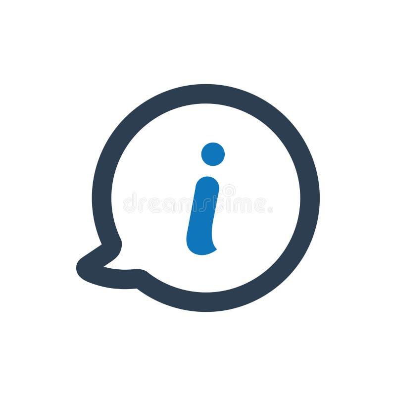 Icono de la ayuda de la información stock de ilustración