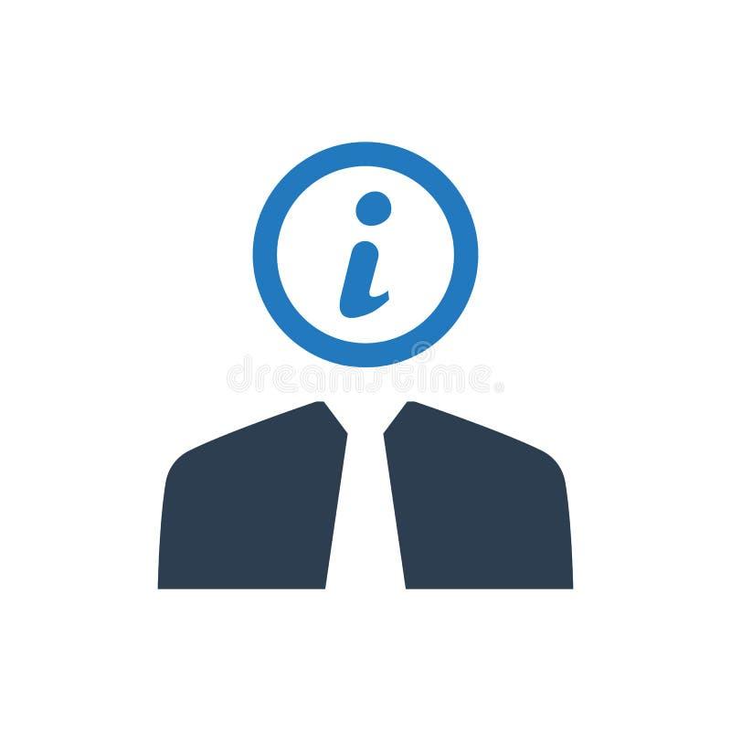 Icono de la ayuda de la información del negocio stock de ilustración