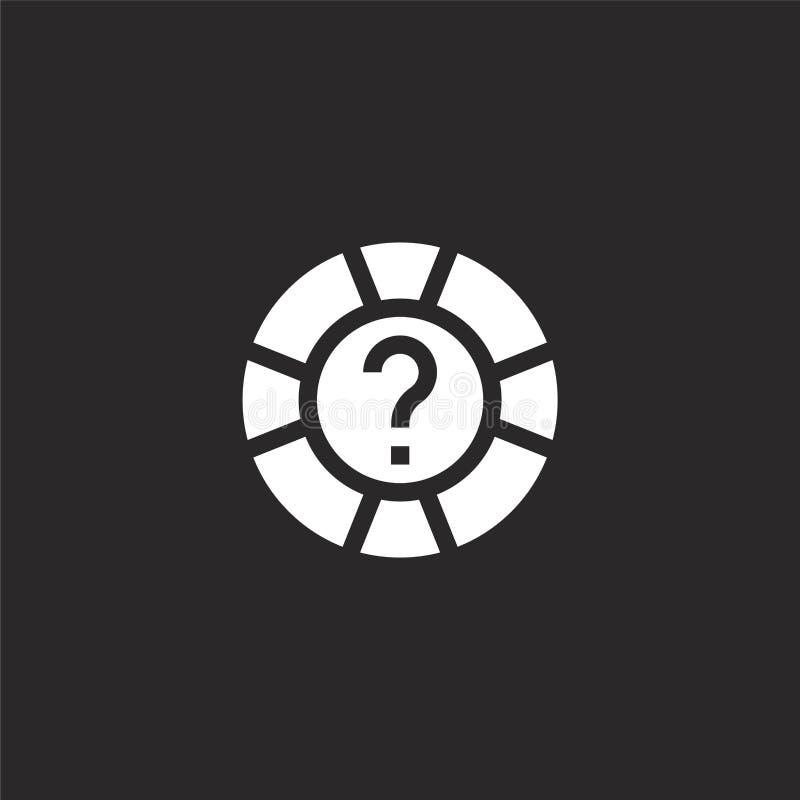 Icono de la AYUDA Icono llenado de la ayuda para el diseño y el móvil, desarrollo de la página web del app icono de la ayuda de l libre illustration