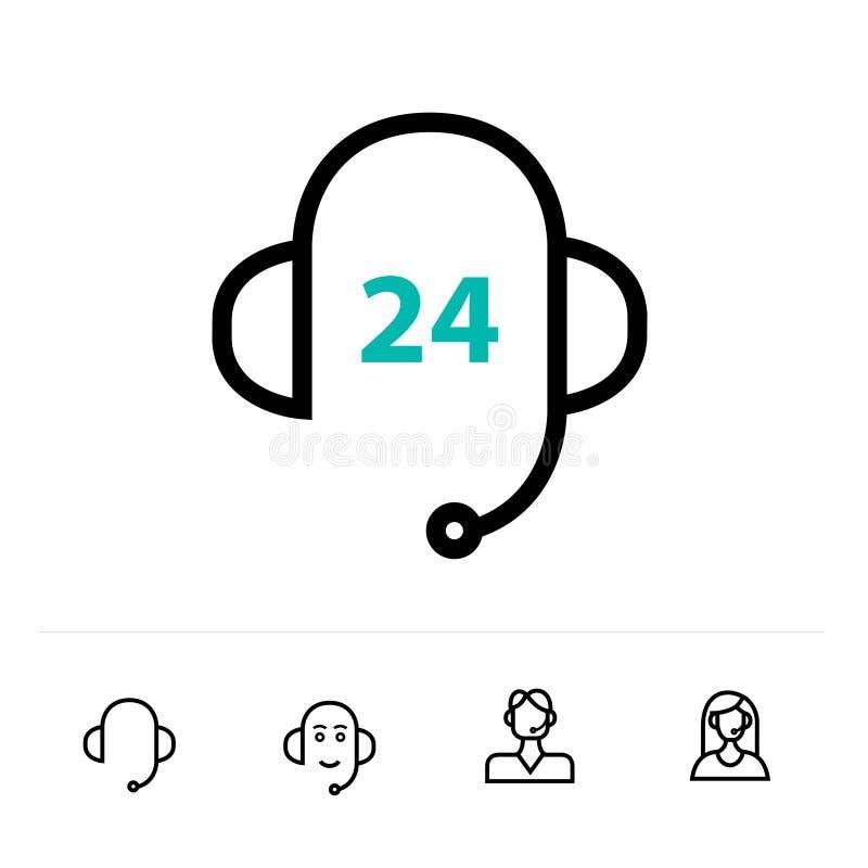 Icono de la ayuda o línea en línea estilo del logotipo del arte ilustración del vector