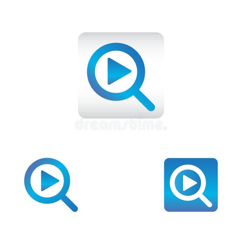 Icono de la búsqueda con símbolo del juego busque el icono del vector del icono del web en diverso estilo libre illustration