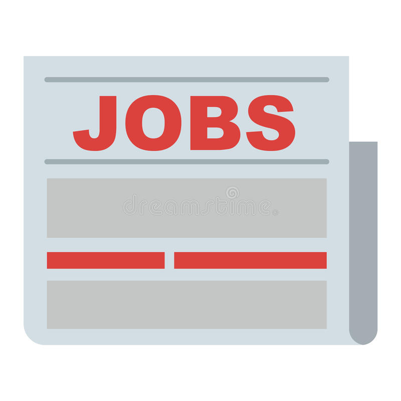 Icono de la búsqueda de trabajo libre illustration
