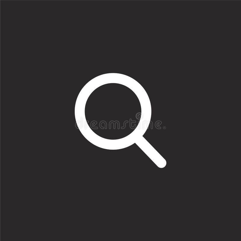 Icono de la b?squeda Icono llenado de la búsqueda para el diseño y el móvil, desarrollo de la página web del app icono de la búsq ilustración del vector