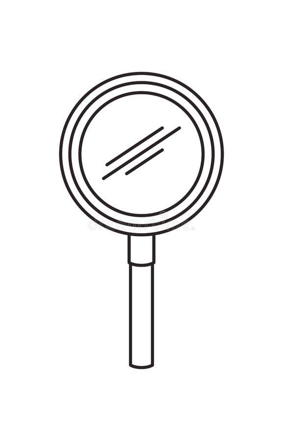 Icono de la b?squeda de la lupa ilustración del vector