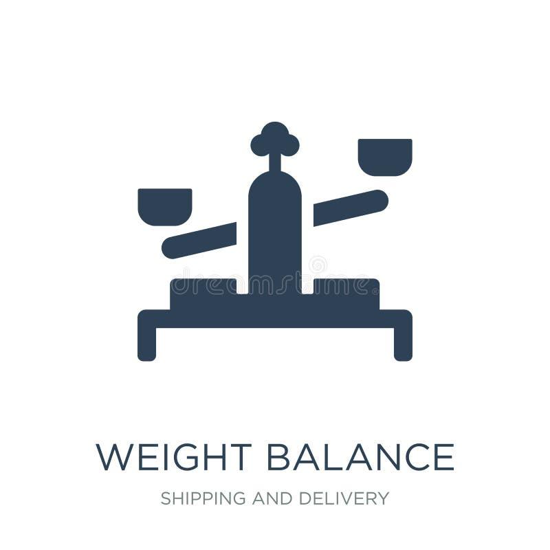 icono de la balanza del peso en estilo de moda del diseño icono de la balanza del peso aislado en el fondo blanco icono del vecto stock de ilustración