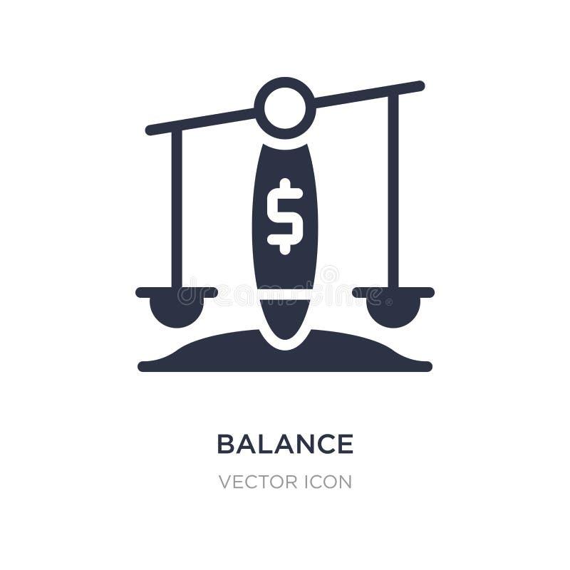 Icono de la balanza en el fondo blanco Ejemplo simple del elemento del concepto de la economía de Digitaces ilustración del vector