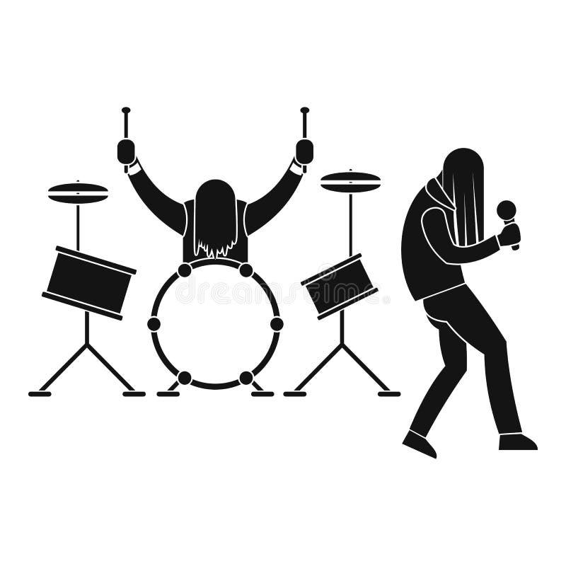 Icono de la banda de rock, estilo simple stock de ilustración