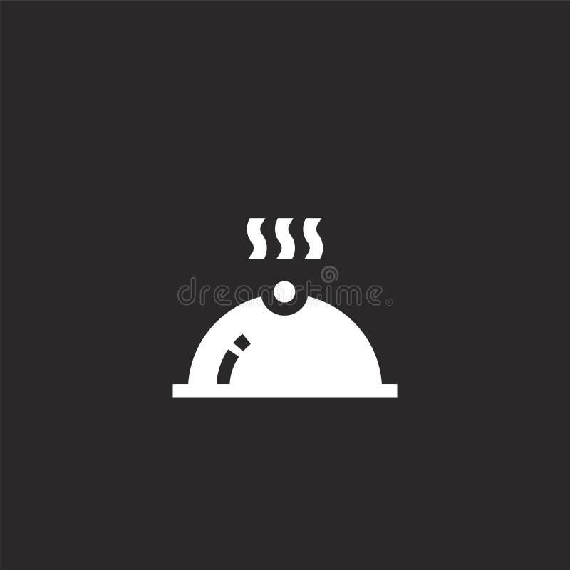Icono de la bandeja Icono llenado de la bandeja para el diseño y el móvil, desarrollo de la página web del app icono de la bandej ilustración del vector