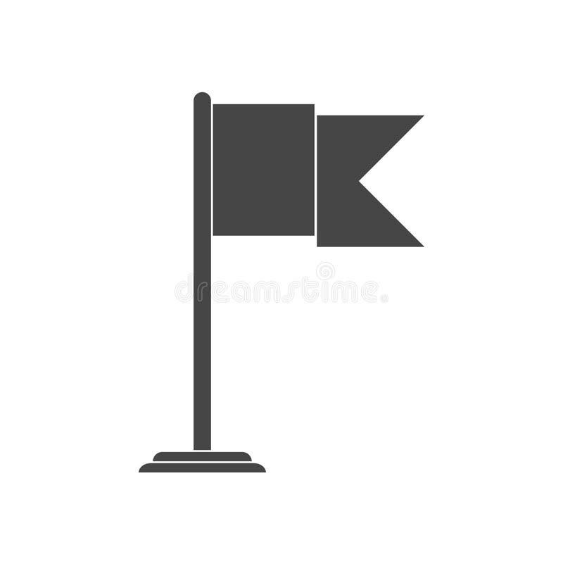 Icono de la bandera stock de ilustración