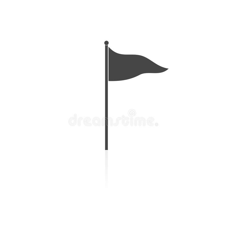 Icono de la bandera ilustración del vector