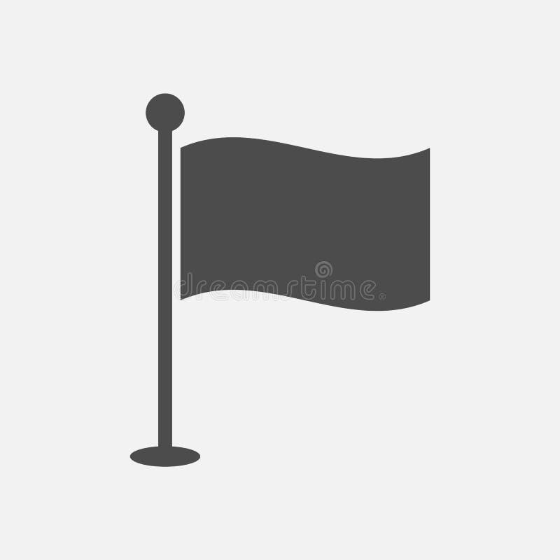 Icono de la bandera aislado en el fondo blanco Ilustraci?n del vector imagen de archivo