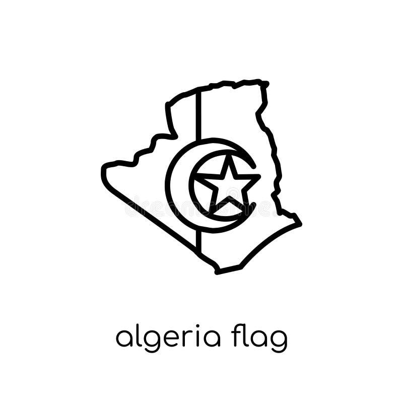 Icono de la bandera de Argelia  stock de ilustración