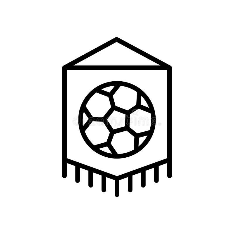 Icono de la bandera del equipo de fútbol símbolo simple del deporte del estilo del esquema del ejemplo stock de ilustración