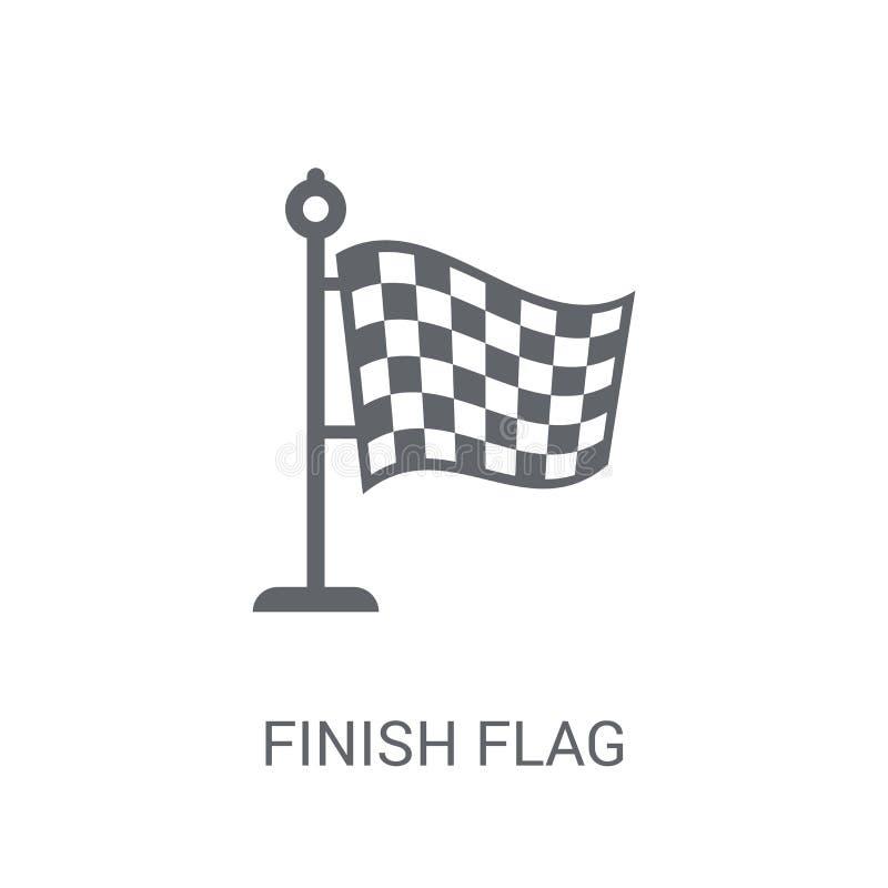 Icono de la bandera del final  libre illustration