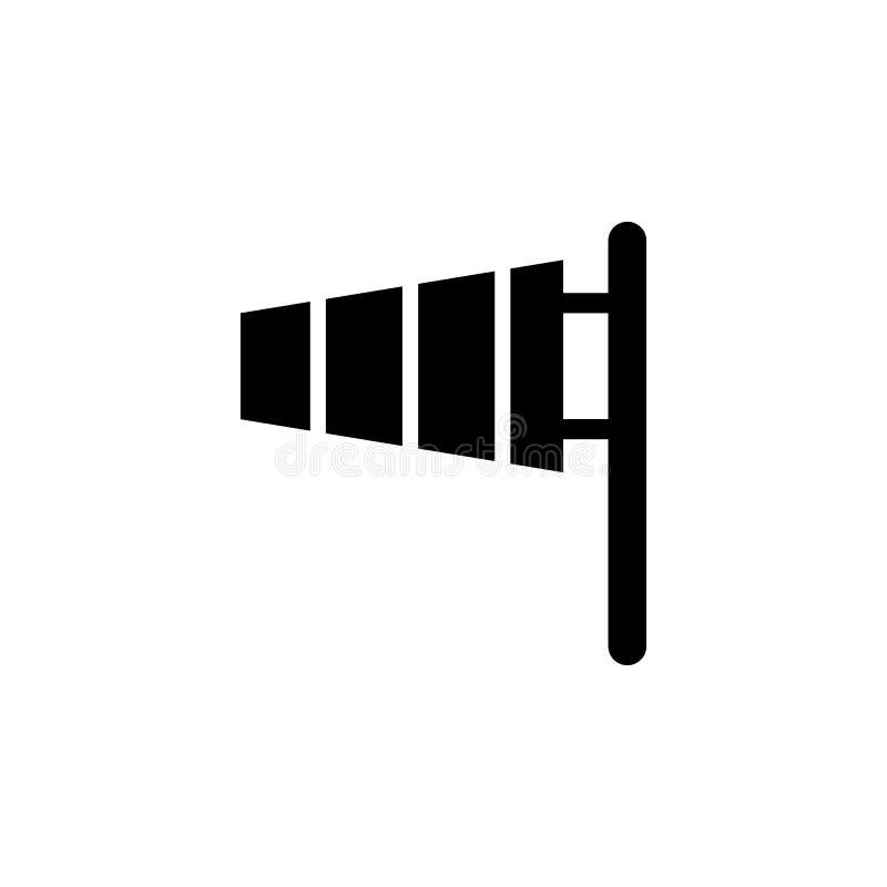 Icono de la bandera del viento Elemento del ejemplo del tiempo Las muestras y los símbolos se pueden utilizar para la web, logoti libre illustration