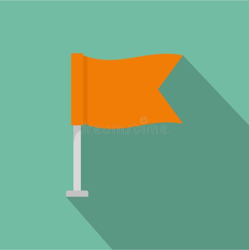 Icono de la bandera, estilo plano libre illustration
