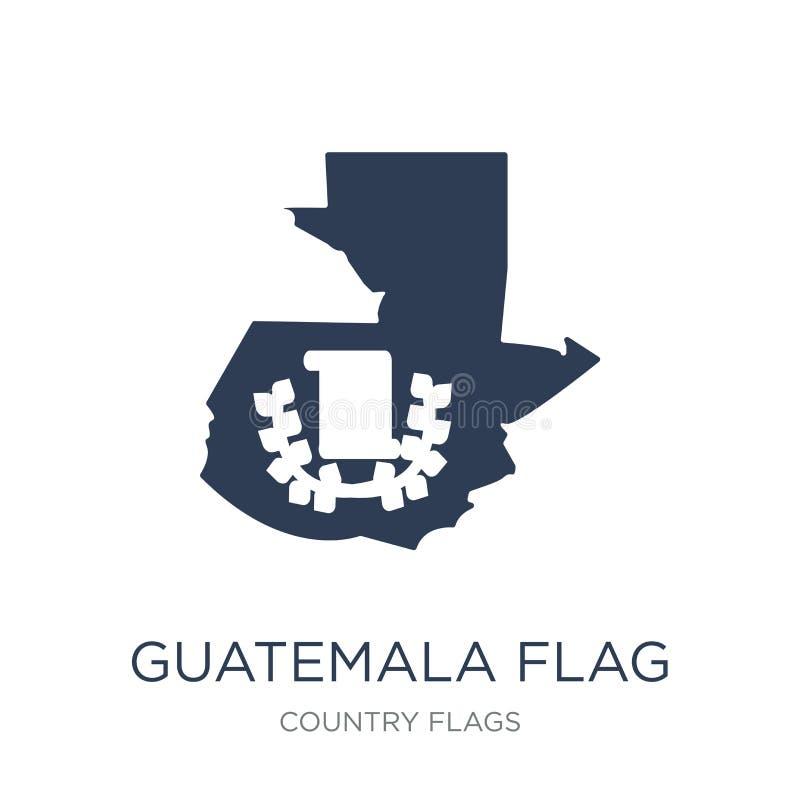 Icono de la bandera de Guatemala  stock de ilustración