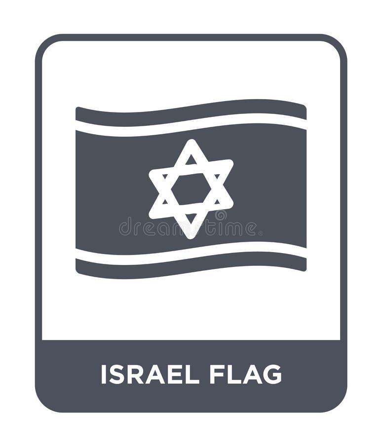 icono de la bandera de Israel en estilo de moda del diseño icono de la bandera de Israel aislado en el fondo blanco icono del vec stock de ilustración