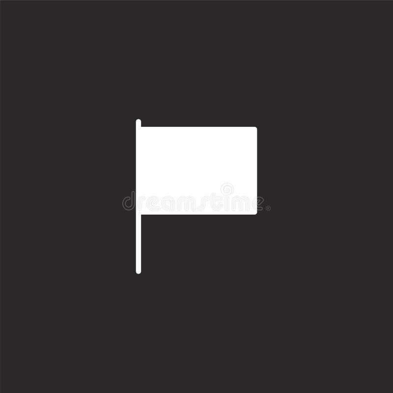 Icono de la bandera Icono llenado de la bandera para el diseño y el móvil, desarrollo de la página web del app icono de la bander stock de ilustración