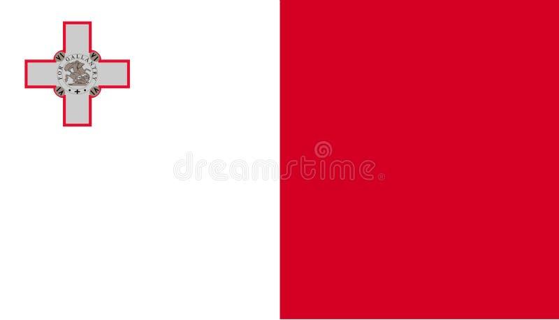 Icono de la bandera de Malta en estilo plano Ejemplo nacional del vector de la muestra Concepto diplom?tico del negocio libre illustration