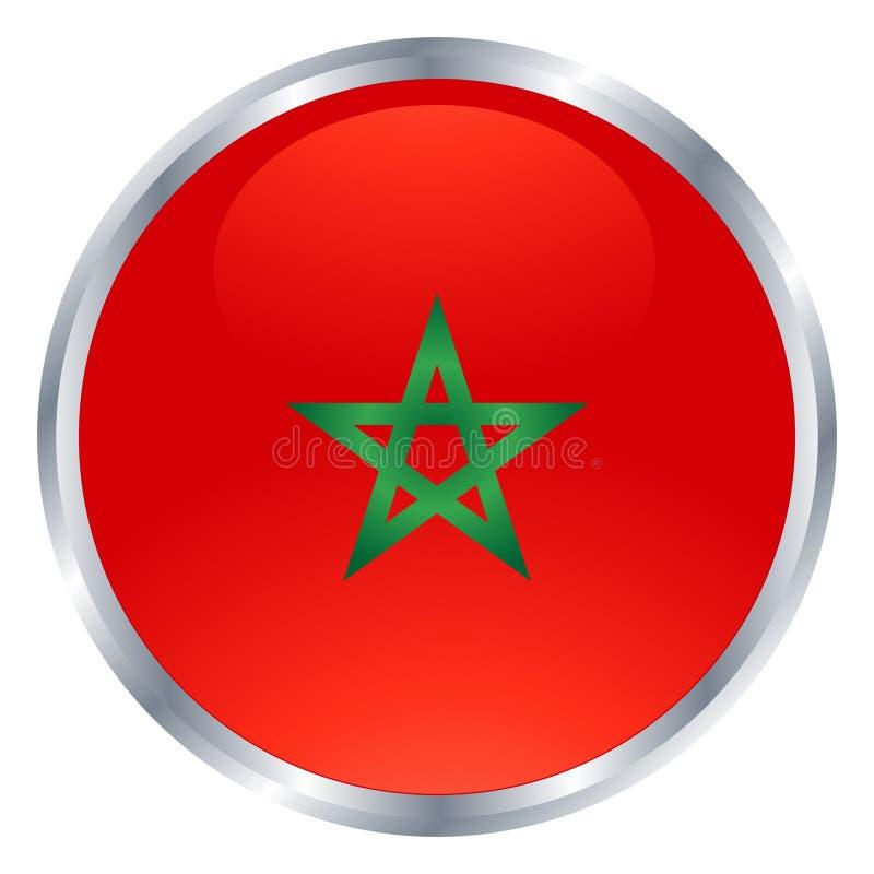 Icono de la bandera de Marruecos imagenes de archivo