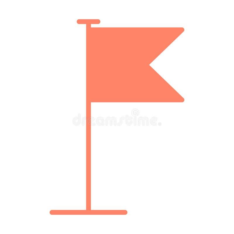 Icono de la bandera Pictograma plano del vector del diseño ilustración del vector