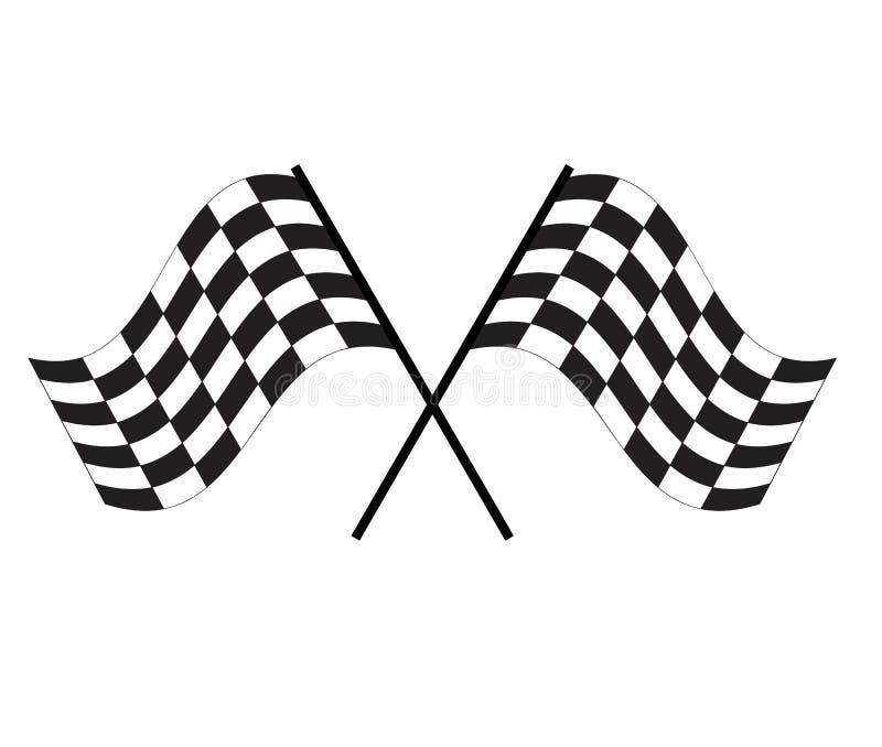 Icono de la bandera de la raza en el fondo blanco muestra de acabado de la bandera S?mbolo de inicio competir con el icono de la  libre illustration