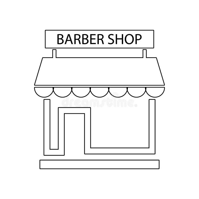 Icono de la barber?a Elemento del peluquero para el concepto y el icono m?viles de los apps de la web Esquema, l?nea fina icono p libre illustration