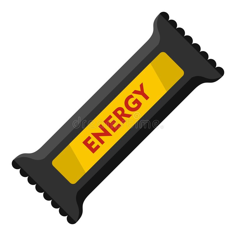 Icono de la barra de energía, estilo plano stock de ilustración